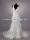 Graceful Sheath Column V-neck Lace Bridal dresses 2013
