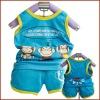 Child 100% Cotton Summer Sleeveless Suit