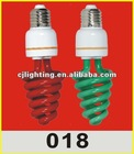high power high brightness color half spiral cfl glass tube