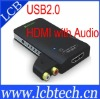 USB2.0 to HDMI Adapter with Audio Adapter