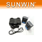 2 x 130Wh Lithium Battery Camera Camcorder V-Mount + Battery Charger