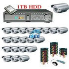 NEW !20CH DVR with HDMI with CCTV Outdoor Camera security surveillance camera system 1TB HDD