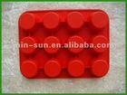 The latest design and hot selling non-stick silicone ice cube tray made in Dongguan