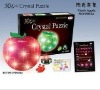 3D crystal puzzle apple shape with light