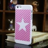 Five stars leather design cover for iphone 5 cases for iphone5