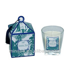 Glass Pillar Candle&Candle Box with Tassels Aromatheraphy Gift