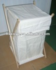 Embroidery folding x frame laundry hamper with 200G cotton