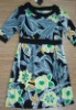 ladies' printed dress, women's fashion woven wear