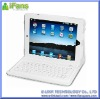 White Leather Cover with bluetooth keyboard for iPad