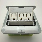 whole sales best price square silver floor socket