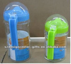 High quality glass oil pot with handle