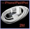 6 Feet 2M Long USB data Cable for iPhone 4 4G 4S 3G S iPod iPad 2 4G IPAD