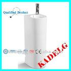 Pedestal Sink Basin Porcelain White Artistic