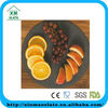 Black slate fruit serving tray natural stone with round shape