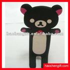 Cartoon soft pvc phone holder,stand mobile phone holder