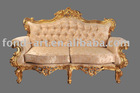 antique gold and silver european style sofa from DongGuan
