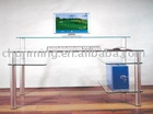 Glass Computer Table/Computer Desk/Office Furniture
