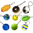 pu stress ball keychain