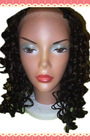 Hot sell brazilian Deep curly U part human hair lace wigs