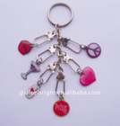 Metal charms chains, charms key holder,charms keycahin