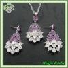big flower design costume jewelry set