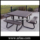 Steel Table Set Free Standing or Fixed Outdoor Use
