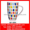 Ceramic Beer Mug & Coffee Mug with Spot Design for Belly Shape Promotion Mug
