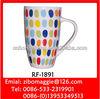 Ceramic Beer Mug & Coffee Mug with Spot Design for Belly Shape Promotion Mug