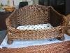 Wicker pet bed