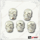 C101 2012 Hot selling silver skull convex metal stud hot fix