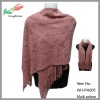 wholesale hot selling ladies solid color acrylic shawl