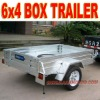 Box Trailer 6 x 4 Galvanized Trailer