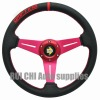 PVC car steering wheel 5131-red car steering wheel