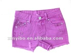 Sexy fashion design children's floral embroidery shorts