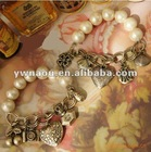 Euramerican Fashion Underwater World perfume heart pearl pendant bracelet jewelry