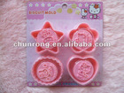 cute hello kitty shaped cake mould silicone baking cookie molds biscuit mould