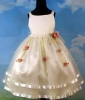 Girl's party dress with beautiful flowers