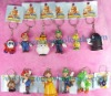 for original nintendo mario bros pvc key chain,pvc key ring (12 in 1 set)