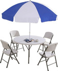 115cm Round Folding Table Set(Table and chairs)