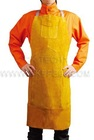golden leather chest protective bid apron