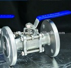 3-pc flanged ball valve.