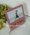 unique design with i love you words glass photo frame 6*4 form factory