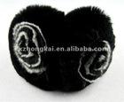 Fashion rex rabbit fur ear muff with nice flower/fashion accessory