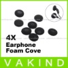 8Pcs Headphone Earbud Ear Pad Earphone Foam Cover Black