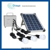 10w solar panel 3A solar power supply system with 3 led lights