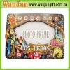 Wooden photo frame magnet