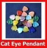 Fashion Cat Eye Shine Loose Love Heart Pendant for Earring
