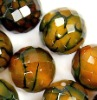 yellow agate loose stone beads