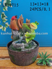 Frog polyresin fountain,water fountain,indoor fountain