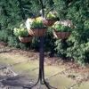 metal flower baskets tree ,hanging coco flower basket rack